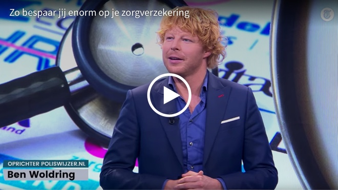 'Zo bespaar jij enorm op je zorgverzekering' - Ben Woldring bij De Telegraaf in 2019
