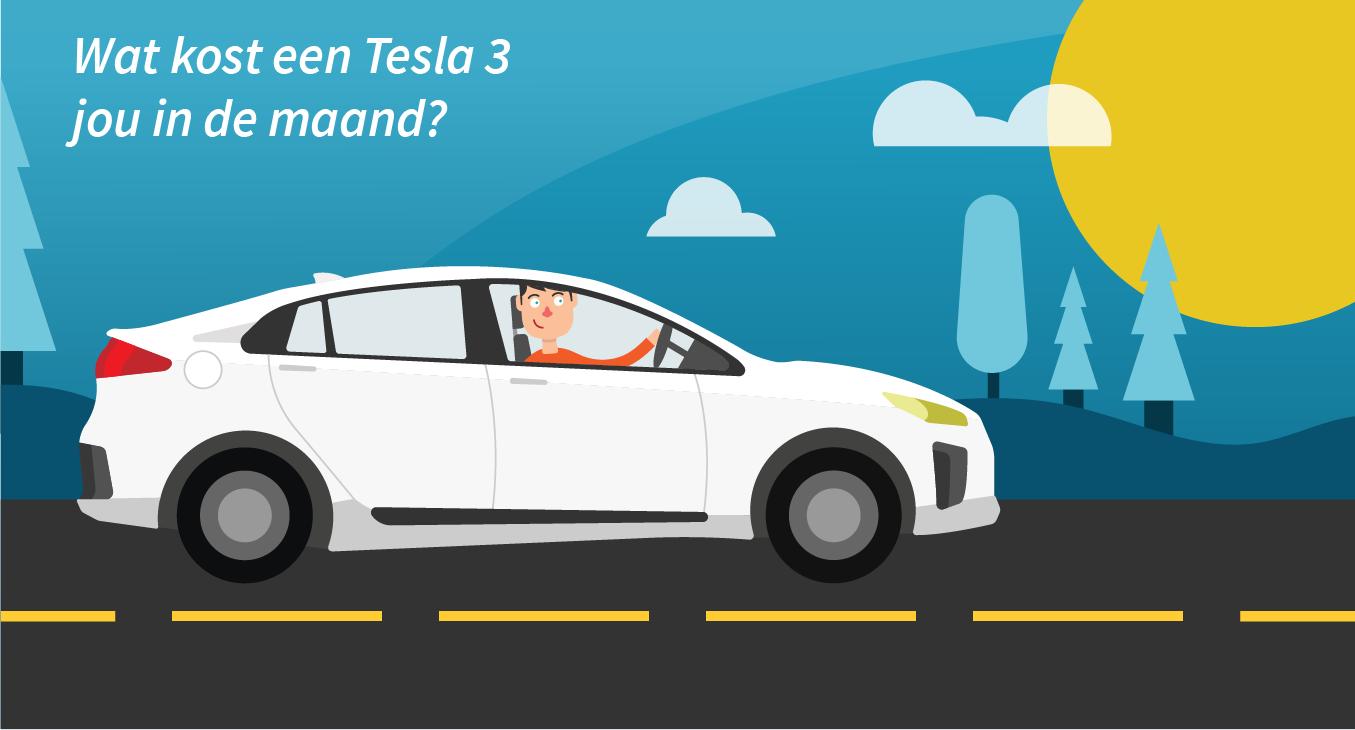 Wat kost de Tesla 3 per maand?